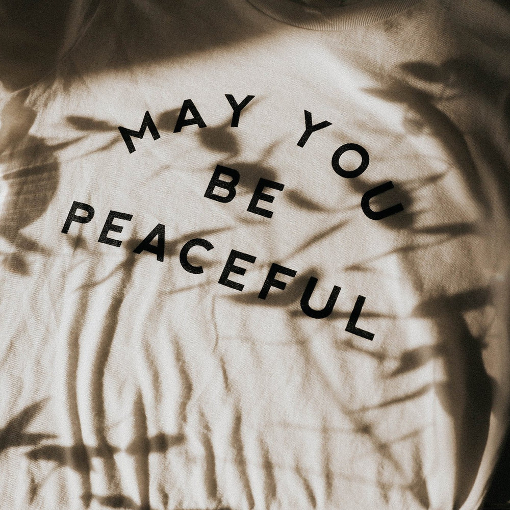 Load image into Gallery viewer, May You Be Peaceful T-Shirt - White