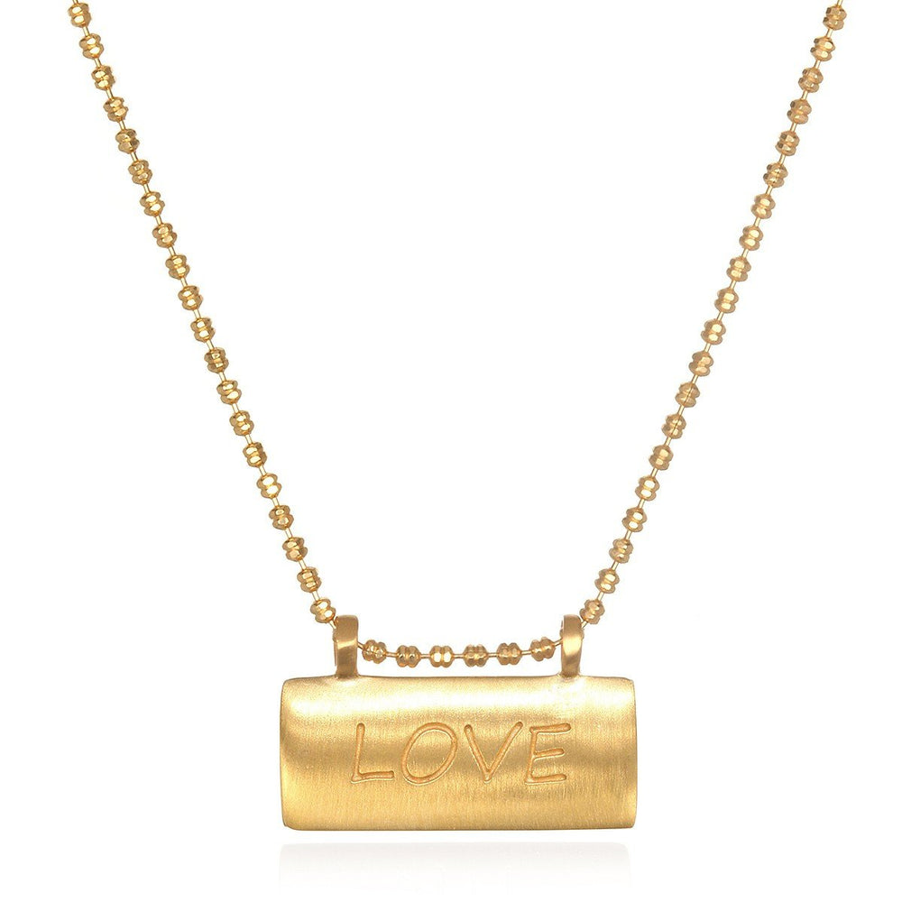 Power Of Love Carded Gold Necklace - houseofmarpa