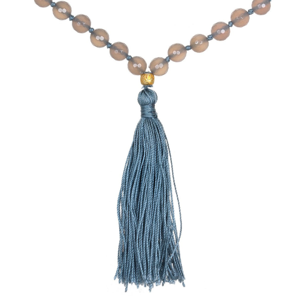 Load image into Gallery viewer, Tranquil Harmony Gray Agate Mala - houseofmarpa