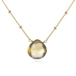 Gold Citrine Necklace - Brighter Than Sunshine - houseofmarpa