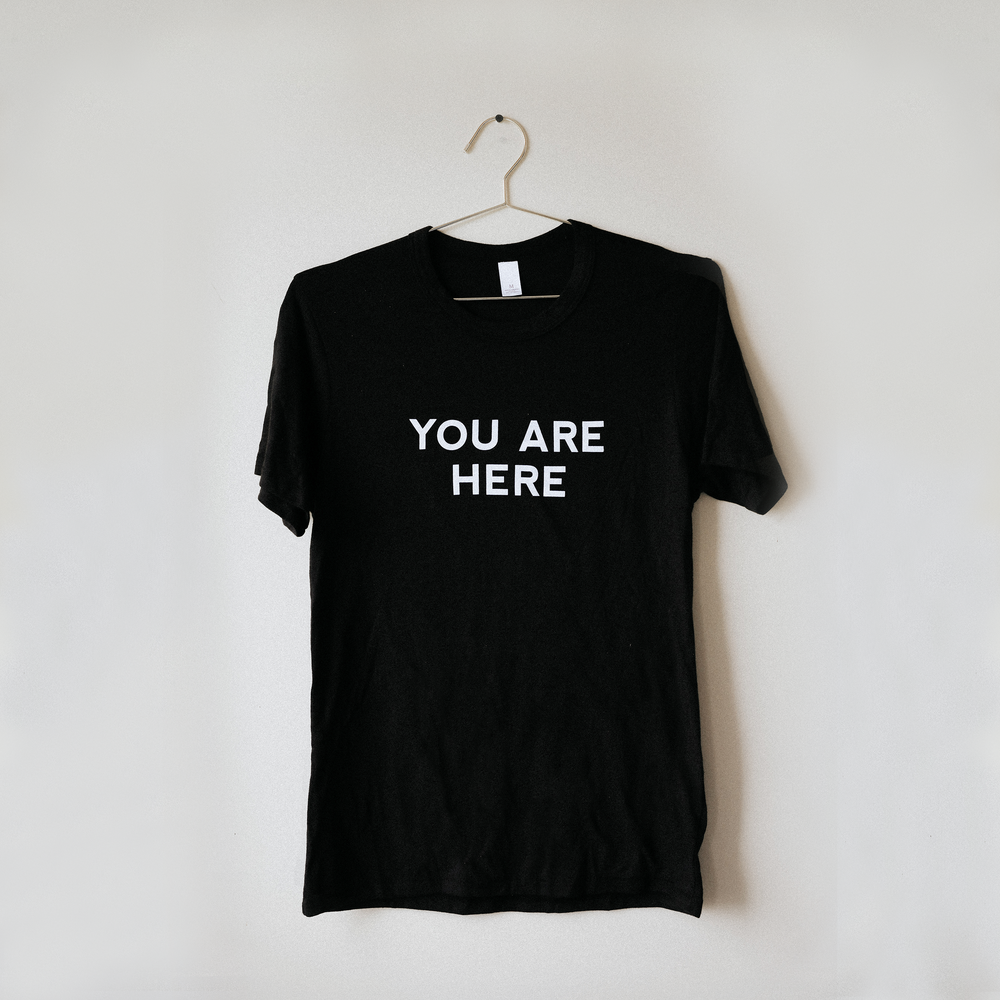 You Are Here T-Shirt - Black