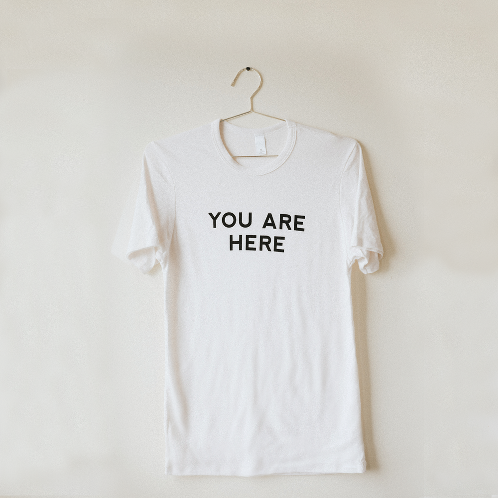 You Are Here T-Shirt - White