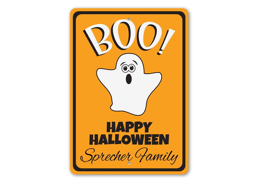 Ghost Boo Sign Aluminum Sign