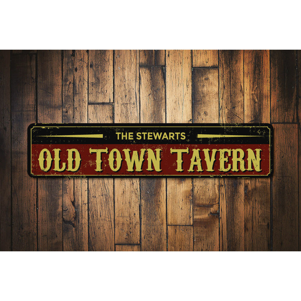 Old Town Tavern Name Sign Aluminum Sign