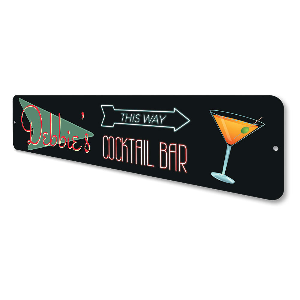 Home Cocktail Bar Sign Aluminum Sign