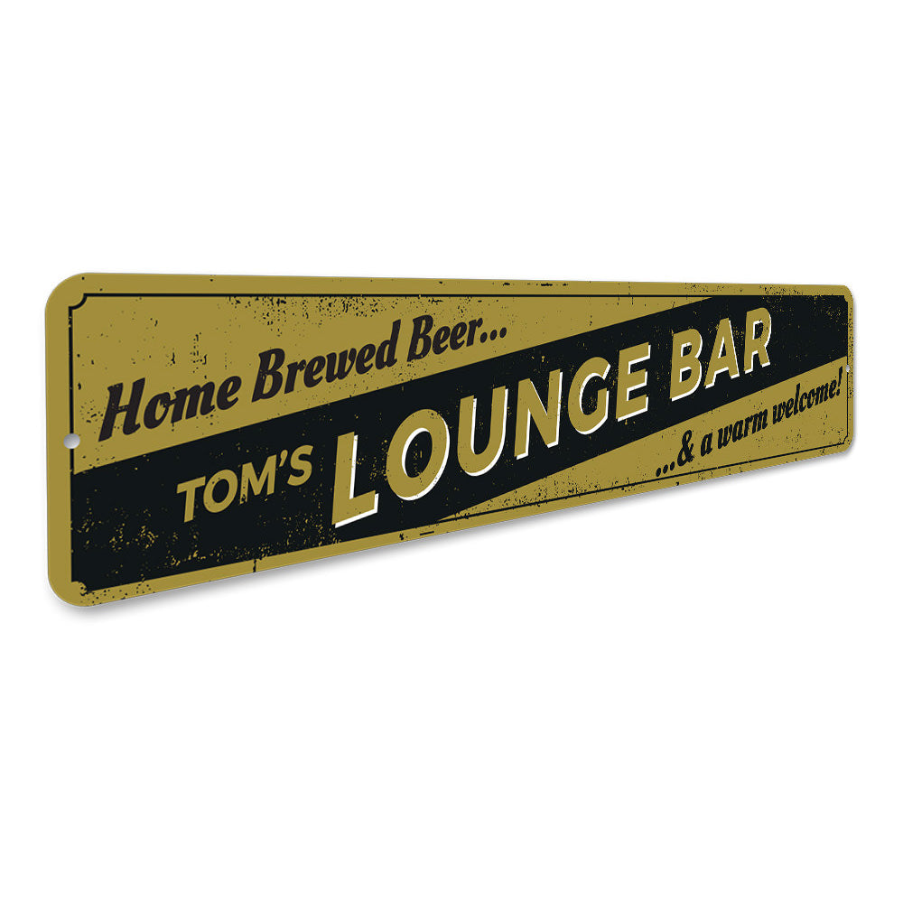 Lounge Bar Sign Aluminum Sign