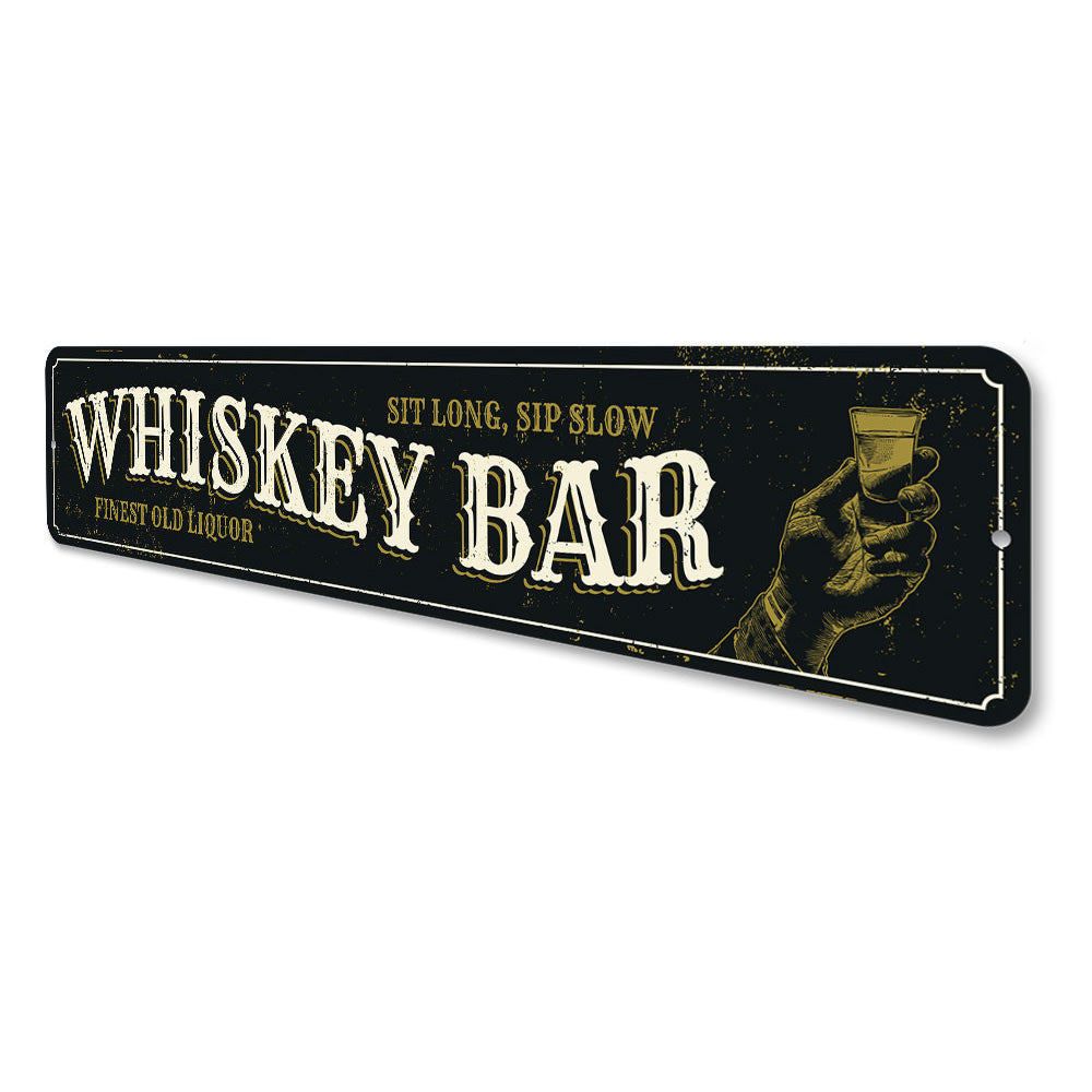 Old Whiskey Bar Sign Aluminum Sign