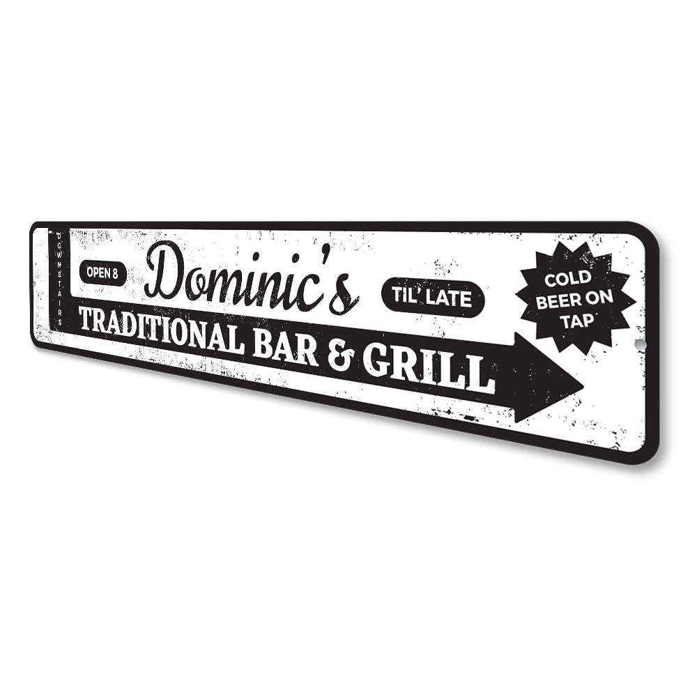 Traditional Bar & Grill Sign Aluminum Sign