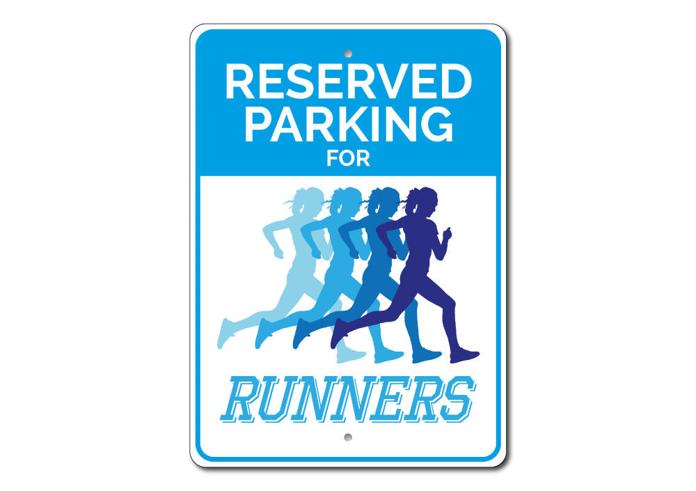 Runner Parking Only Sign Aluminum Sign