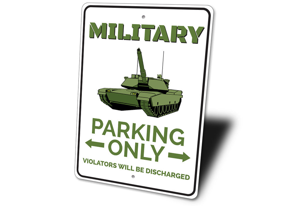 Military Parking Sign Aluminum Sign