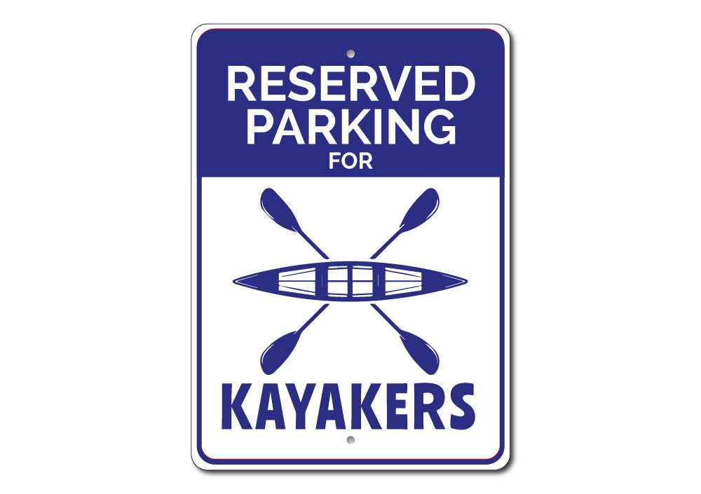Kayaker Parking Sign Aluminum Sign