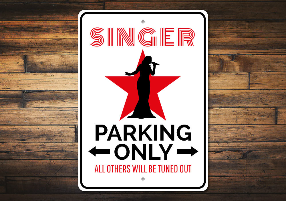 Singer Parking Sign Aluminum Sign