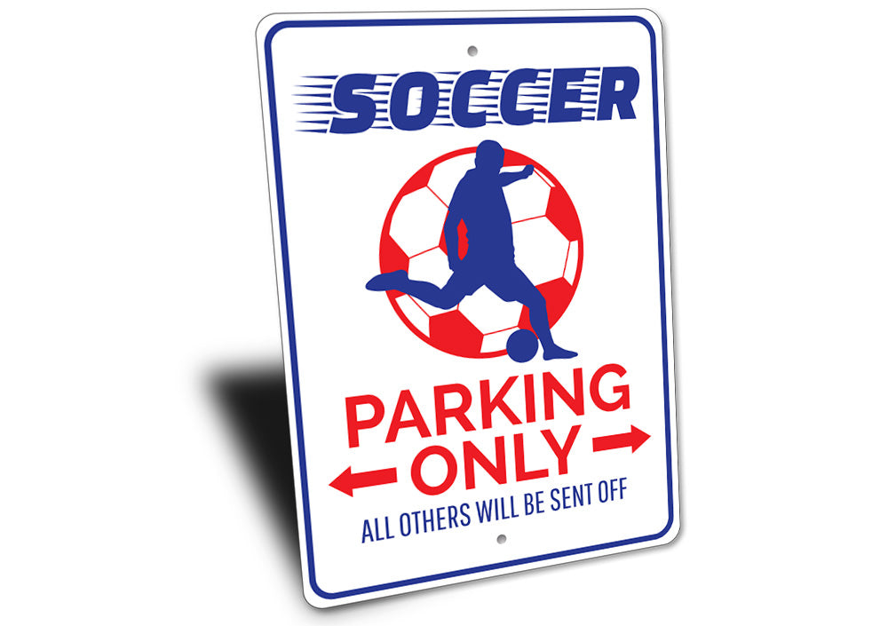 Soccer Parking Sign Aluminum Sign