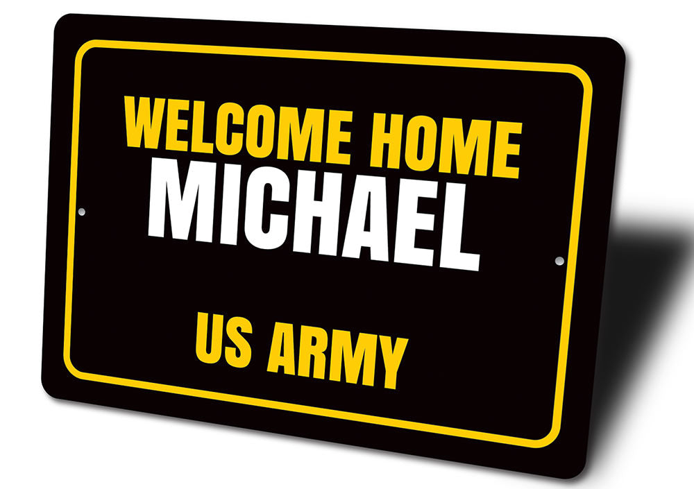 Welcome Home Sign Aluminum Sign