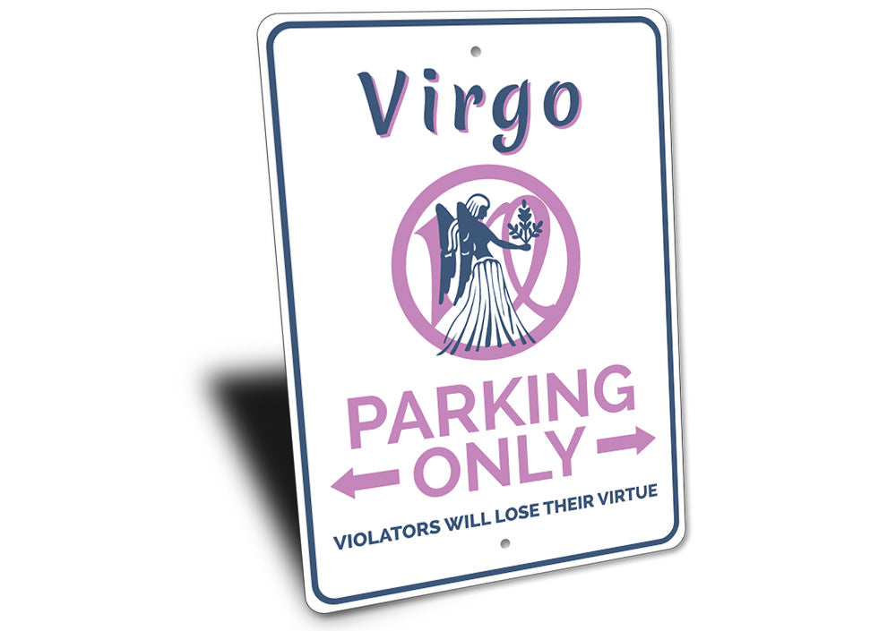 Virgo Parking Sign Aluminum Sign