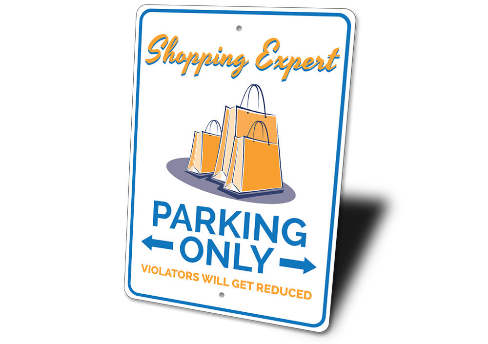 Shopper Parking Sign Aluminum Sign