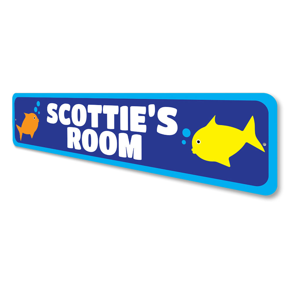 Kids Room Fish Sign Aluminum Sign