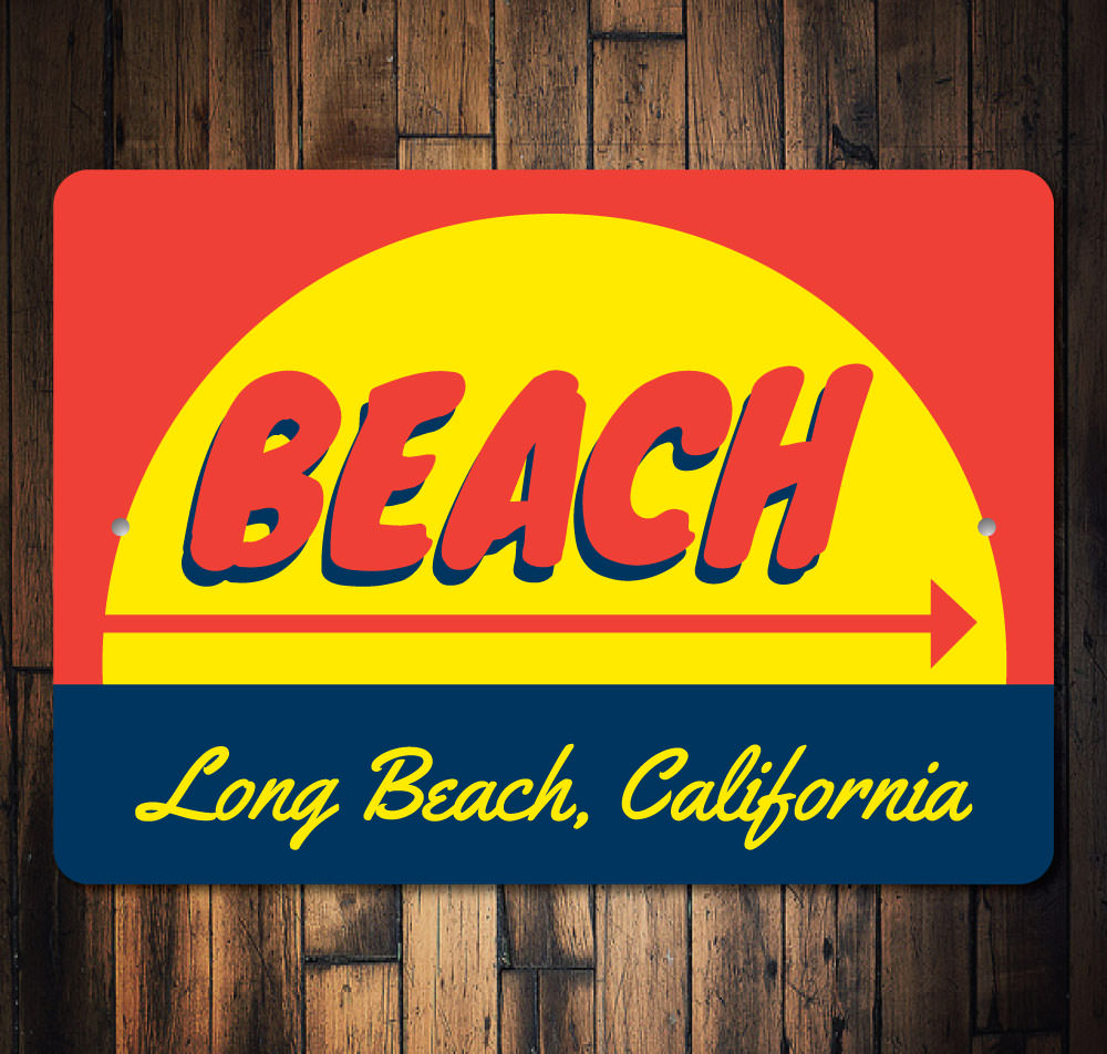 Beach Sunset Sign Aluminum Sign