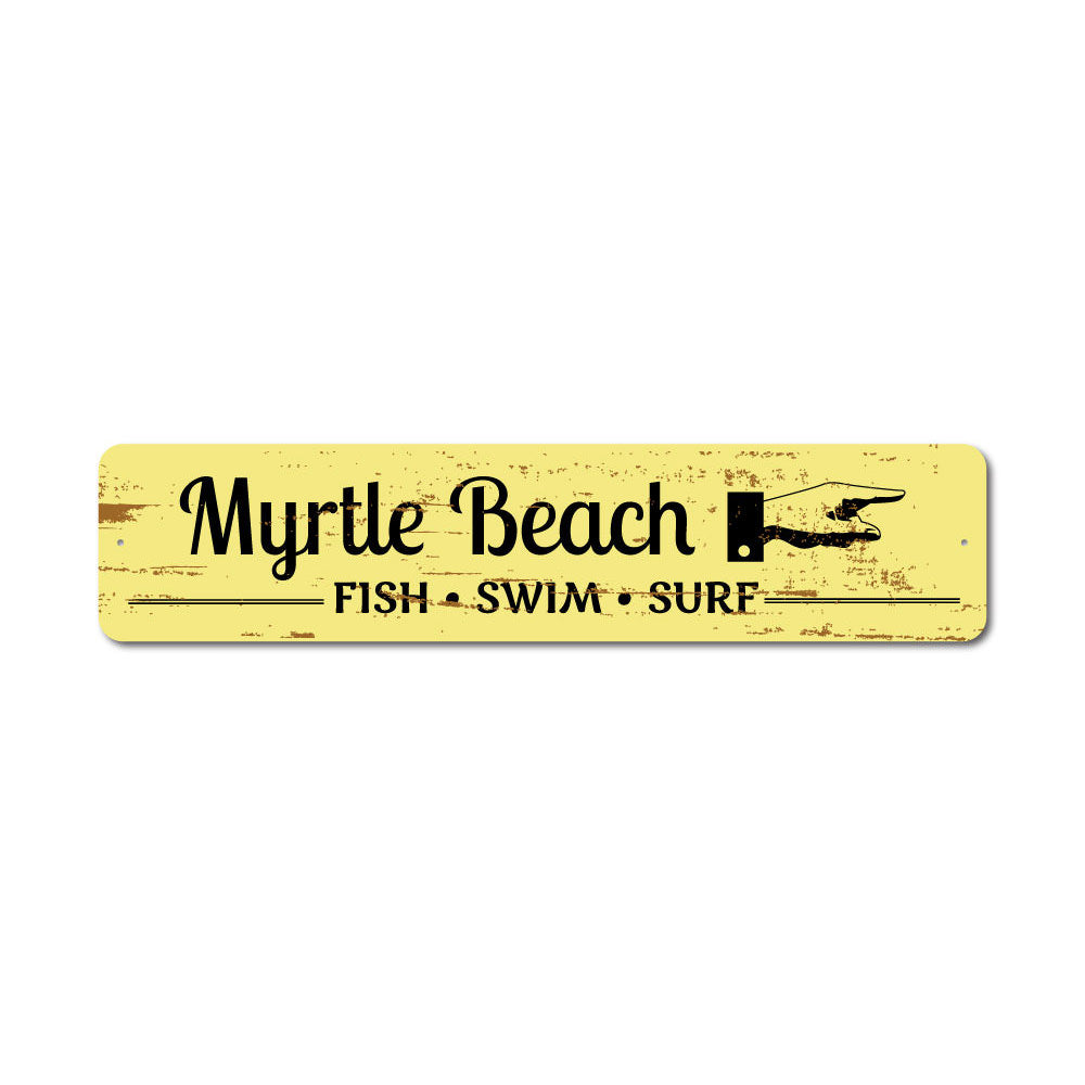 Beach Marker Sign Aluminum Sign