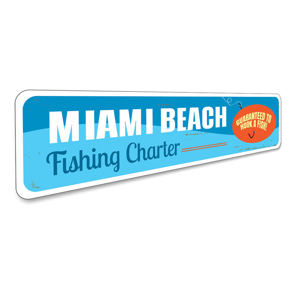 Fishing Charter Sign Aluminum Sign