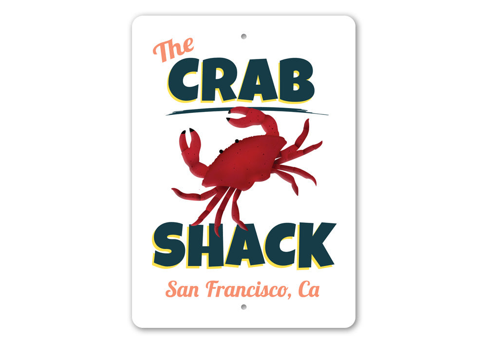 The Crab Shack Sign Aluminum Sign