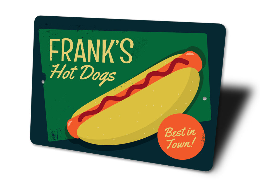 Hot Dogs Sign Aluminum Sign