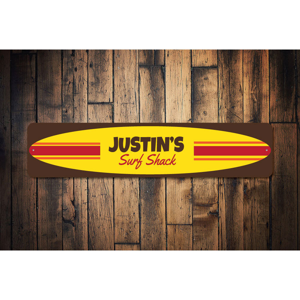 Surfboard Sign Aluminum Sign