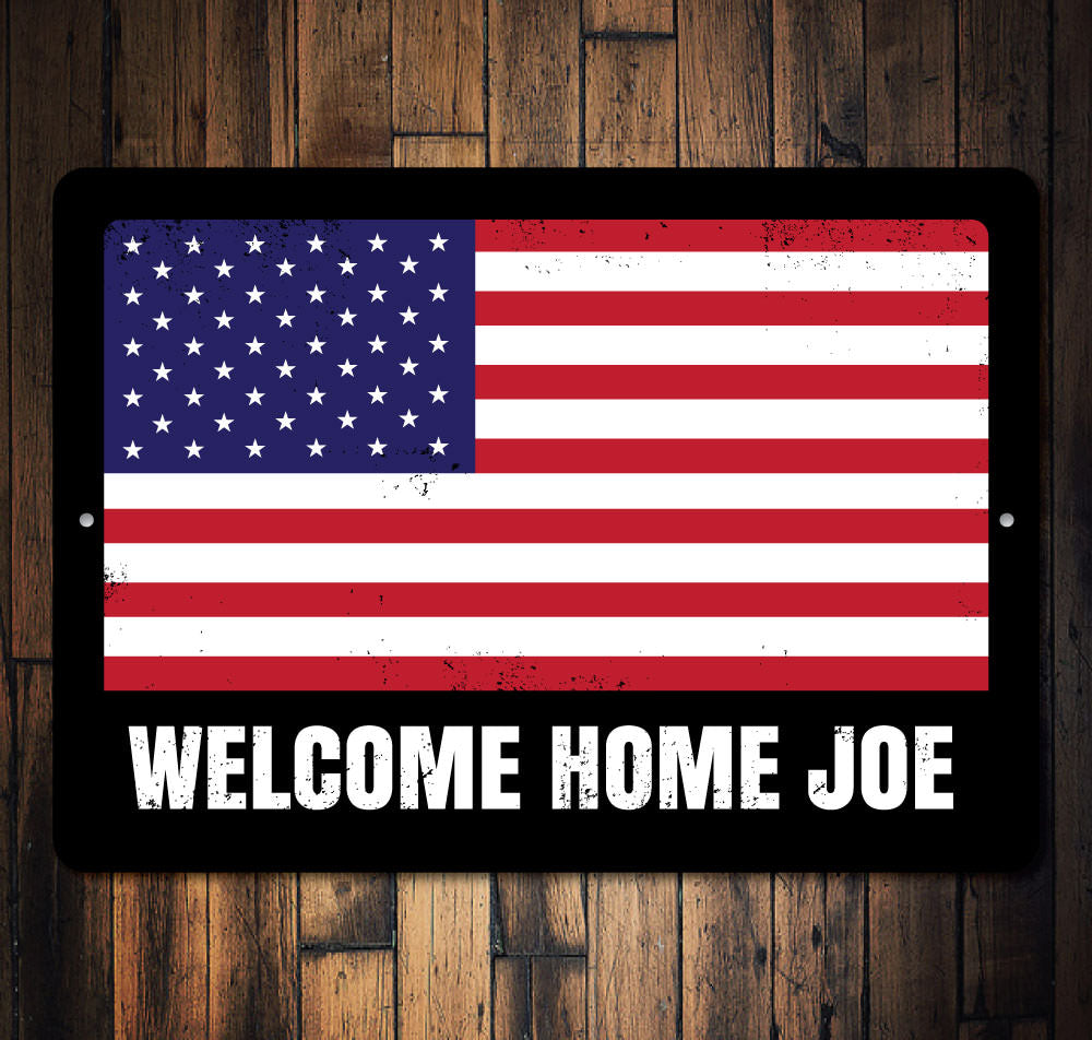 American Flag Sign Aluminum Sign