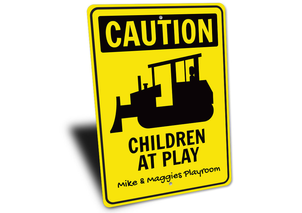 Caution Playroom Sign Aluminum Sign