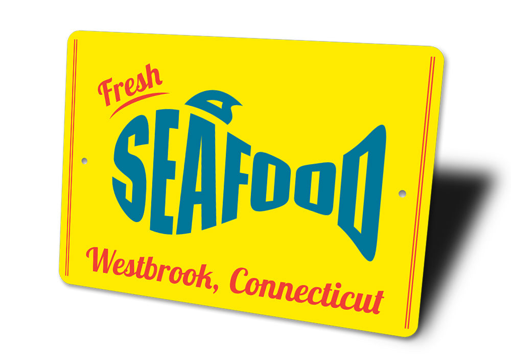 Fresh Seafood Sign Aluminum Sign