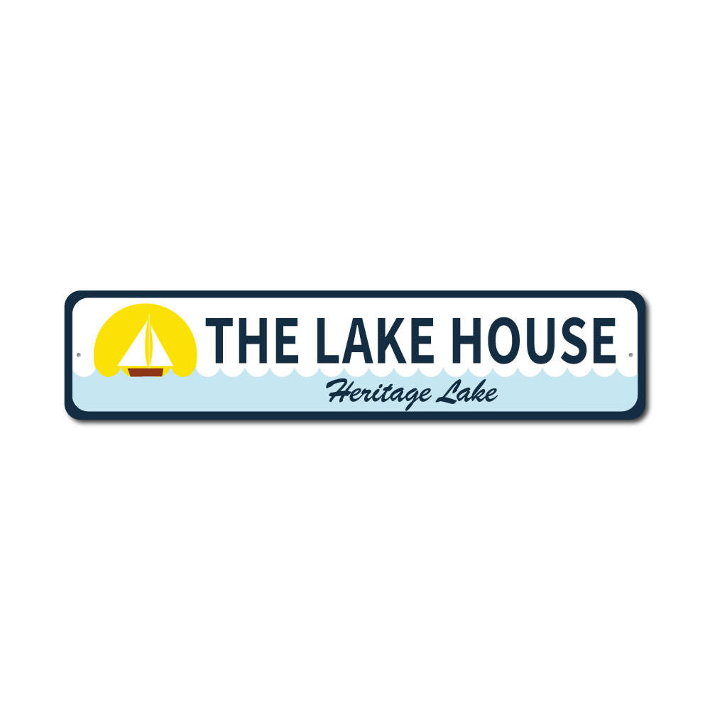 Sailboat Lake House Sign Aluminum Sign