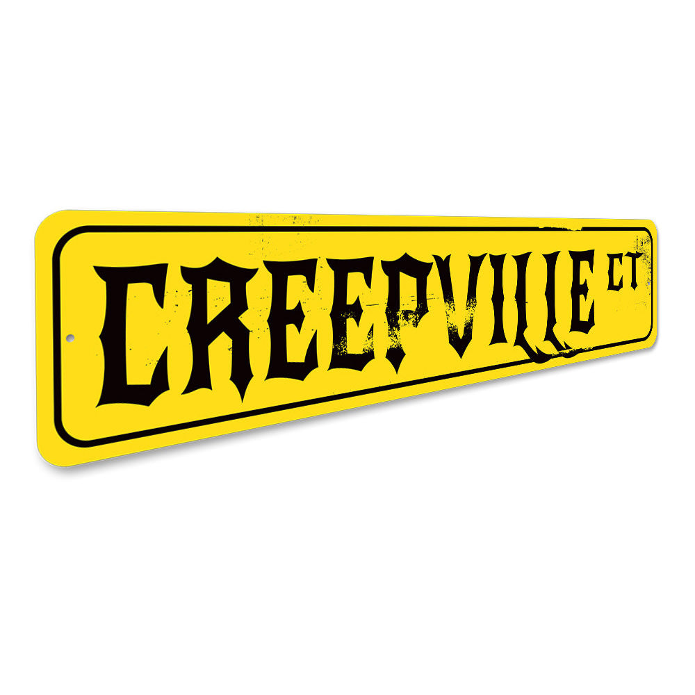 Creepville Court Sign Aluminum Sign