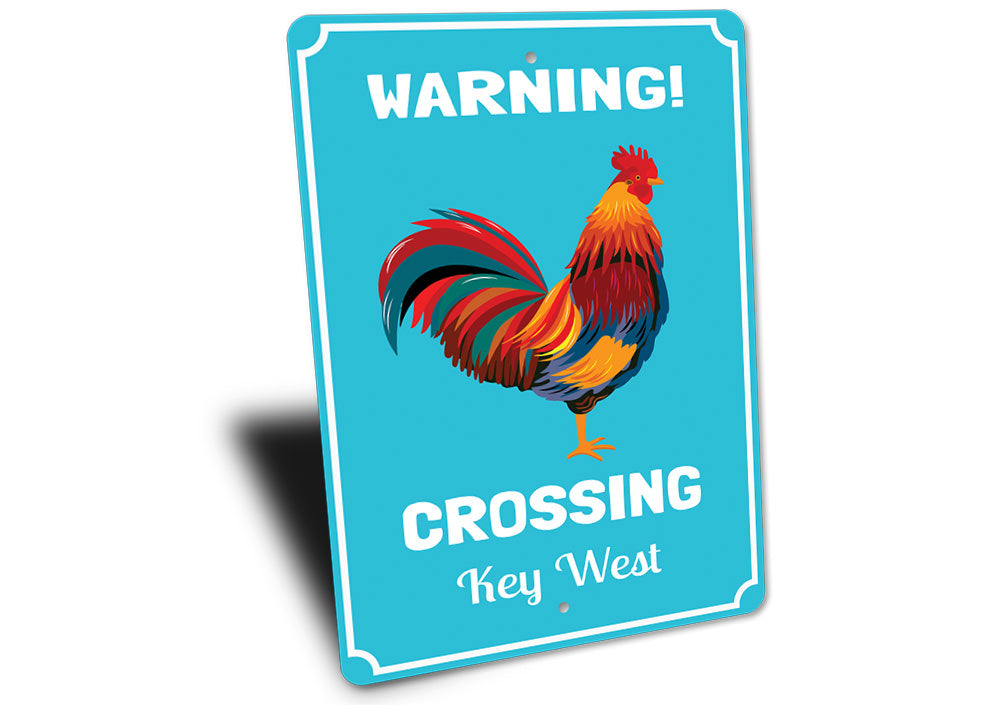Rooster Crossing Sign Aluminum Sign