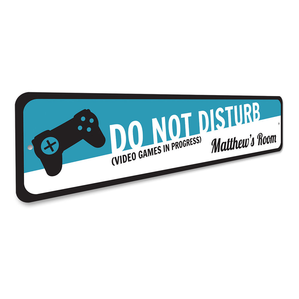 Video Game Sign Aluminum Sign