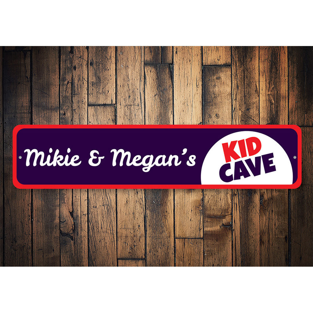 Kids Cave Sign Aluminum Sign