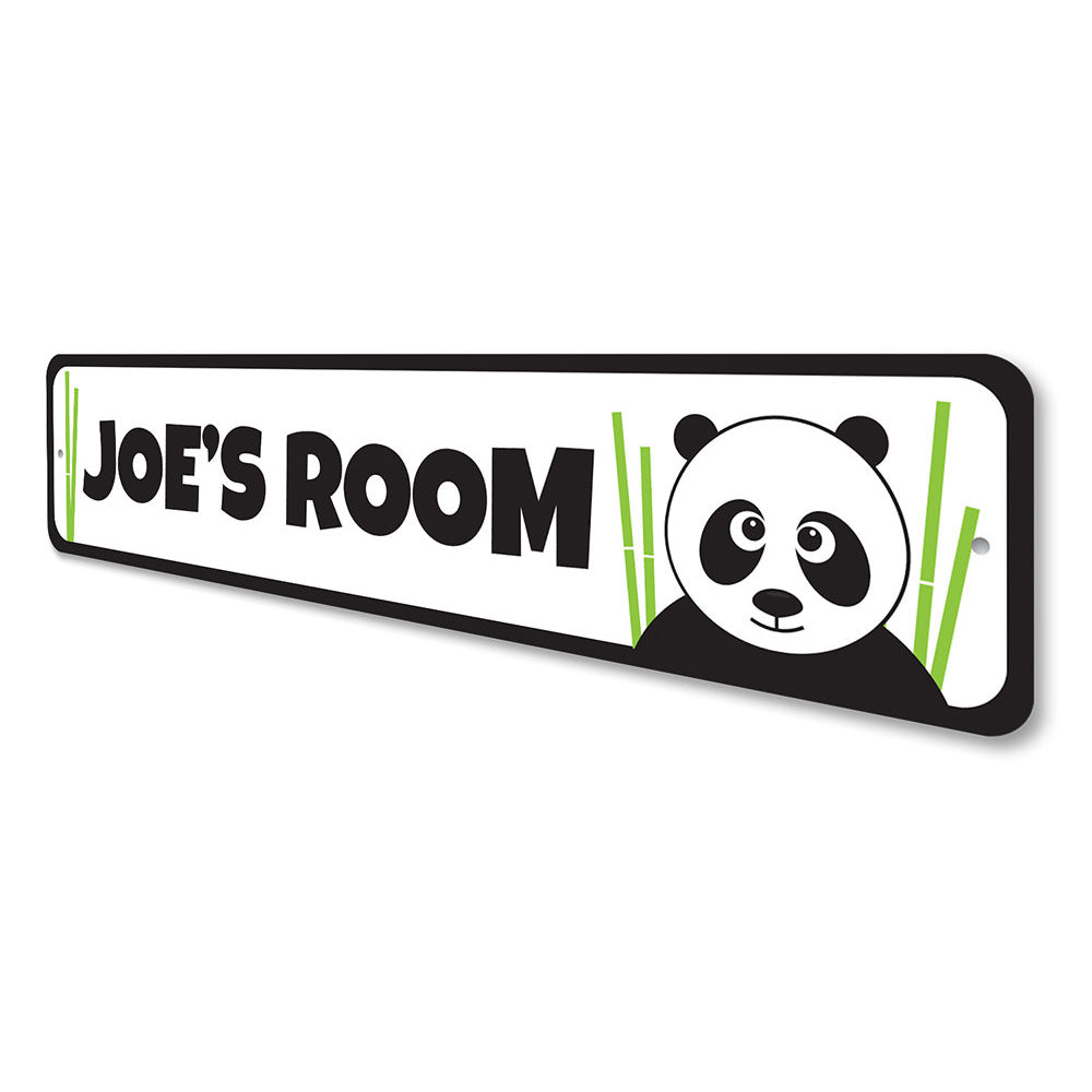 Panda Sign Aluminum Sign