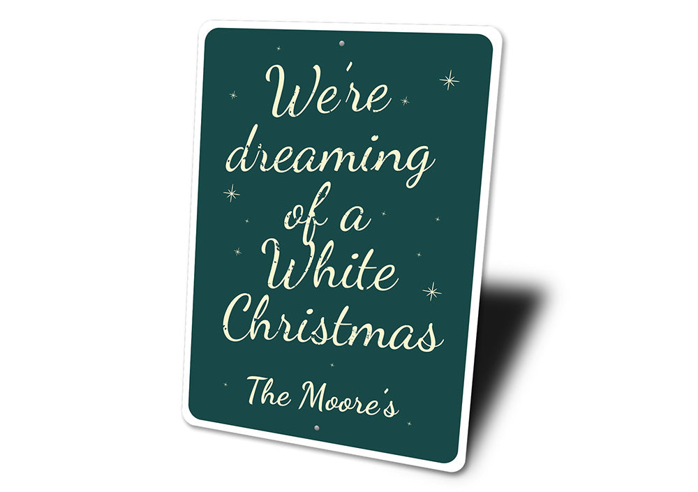 White Christmas Sign Aluminum Sign