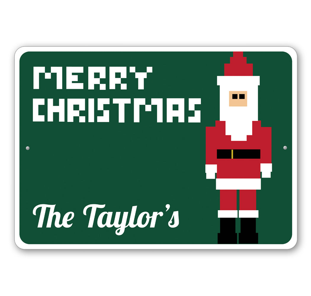 Digital Santa Sign Aluminum Sign