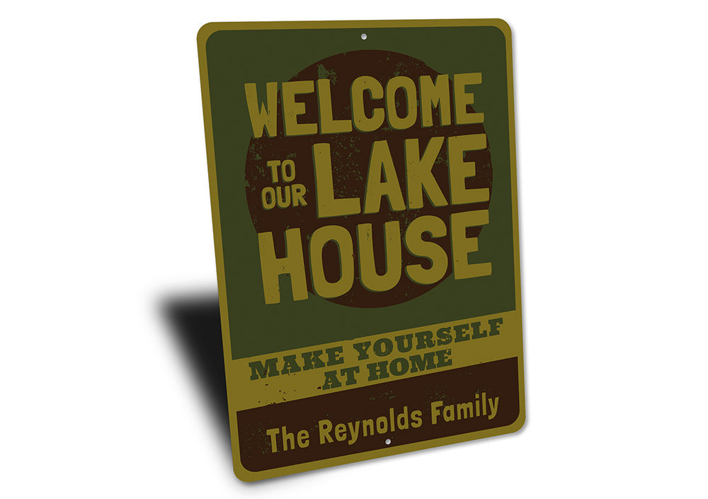 Make Yourself at Home Sign Aluminum Sign