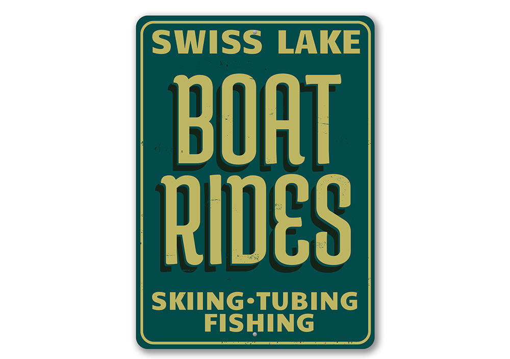 Speed Boat Rides Sign Aluminum Sign