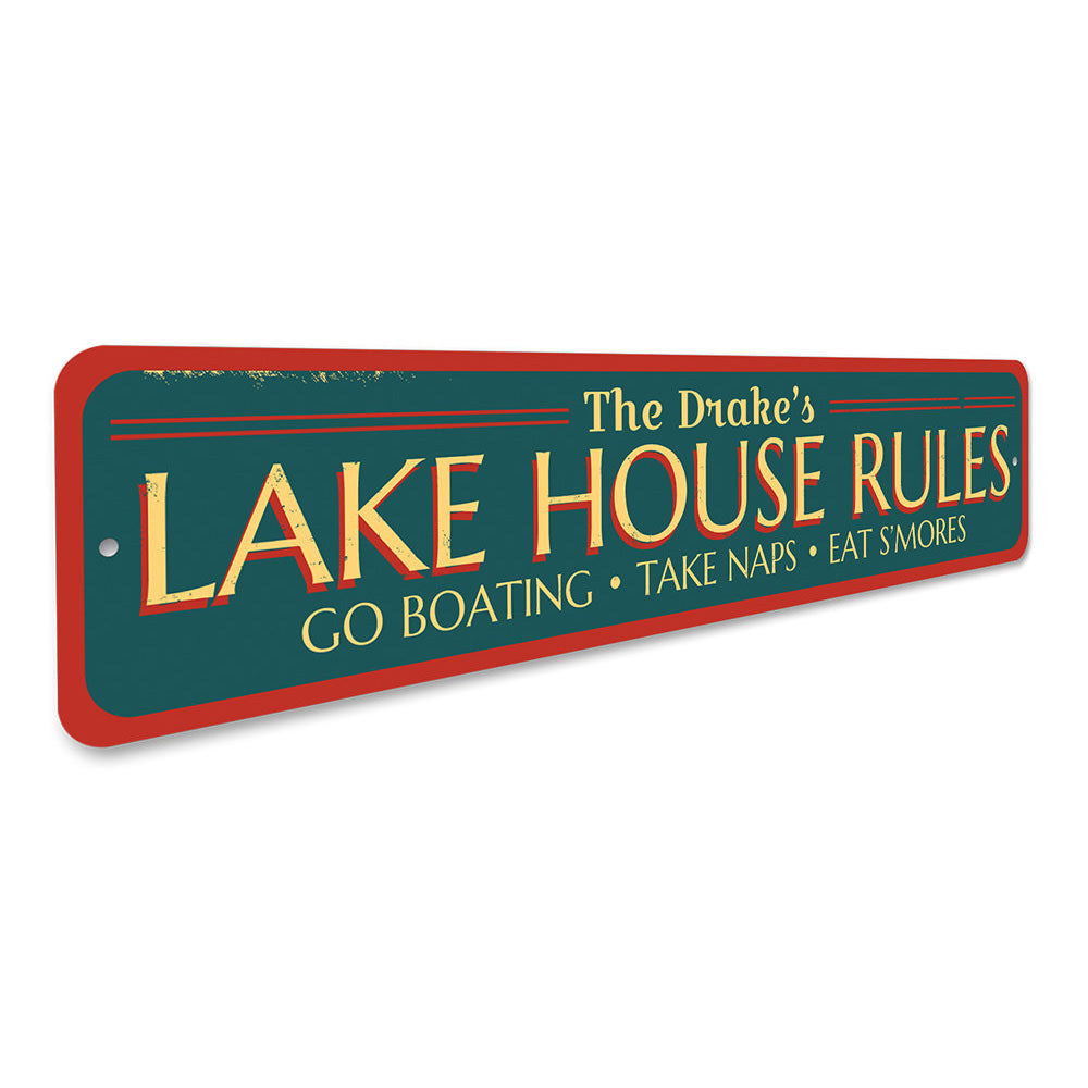 Lake Rules Sign Aluminum Sign
