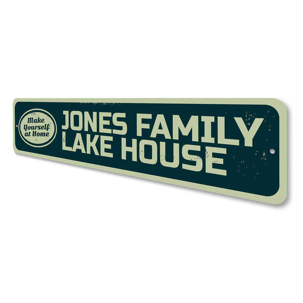 Make Yourself at Home Lake Sign Aluminum Sign