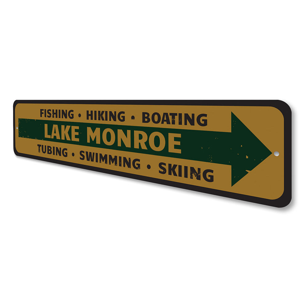 Lake Directional Sign Aluminum Sign