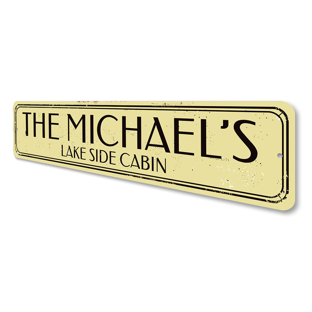 Lake Cabin Sign Aluminum Sign