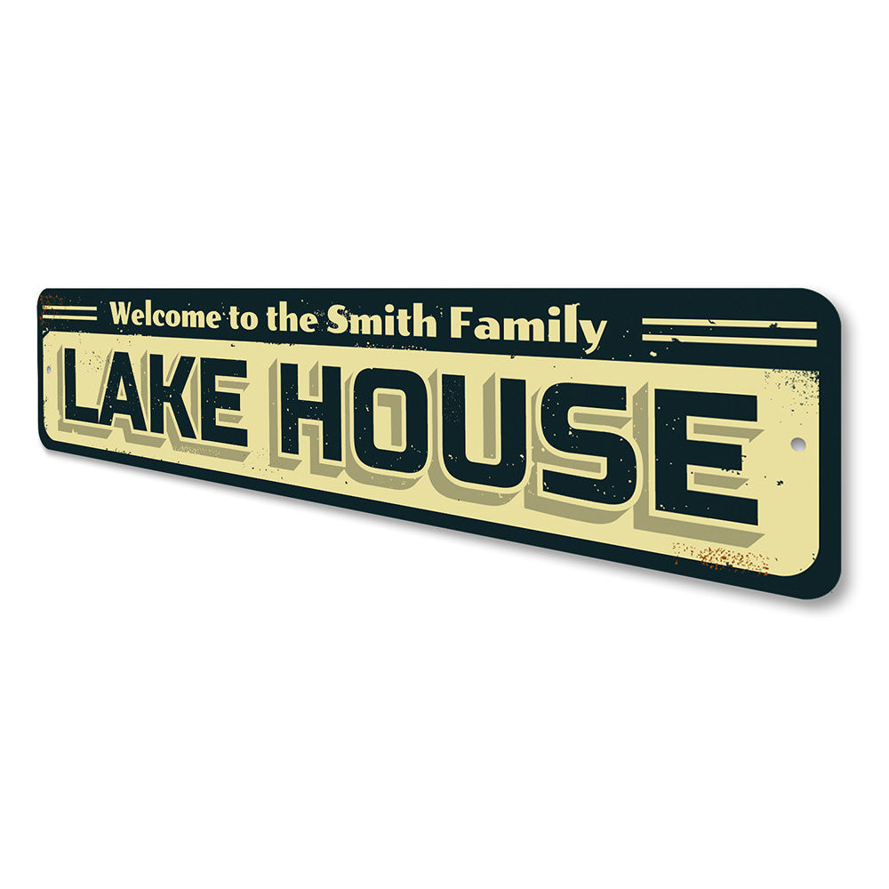 Family Lake Name Sign Aluminum Sign