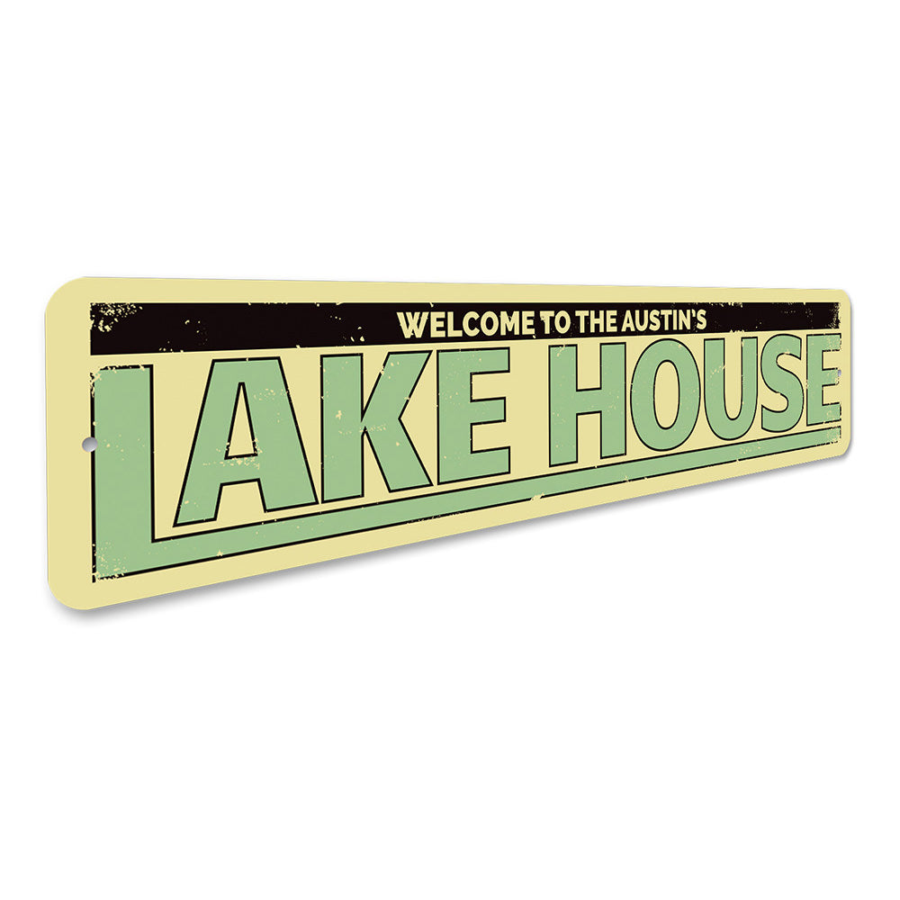 Last Name Lake House Sign Aluminum Sign