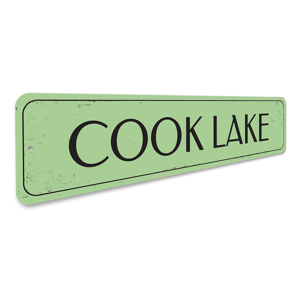 Lake Name Sign Aluminum Sign