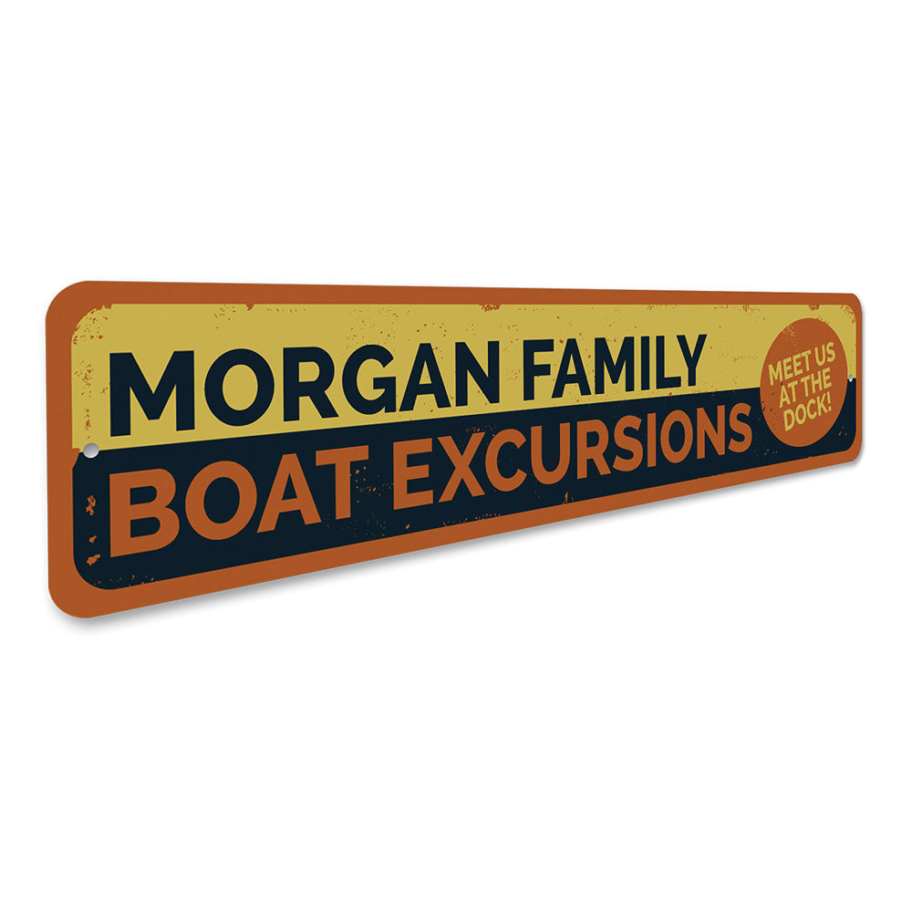Boat Excursions sign Aluminum Sign