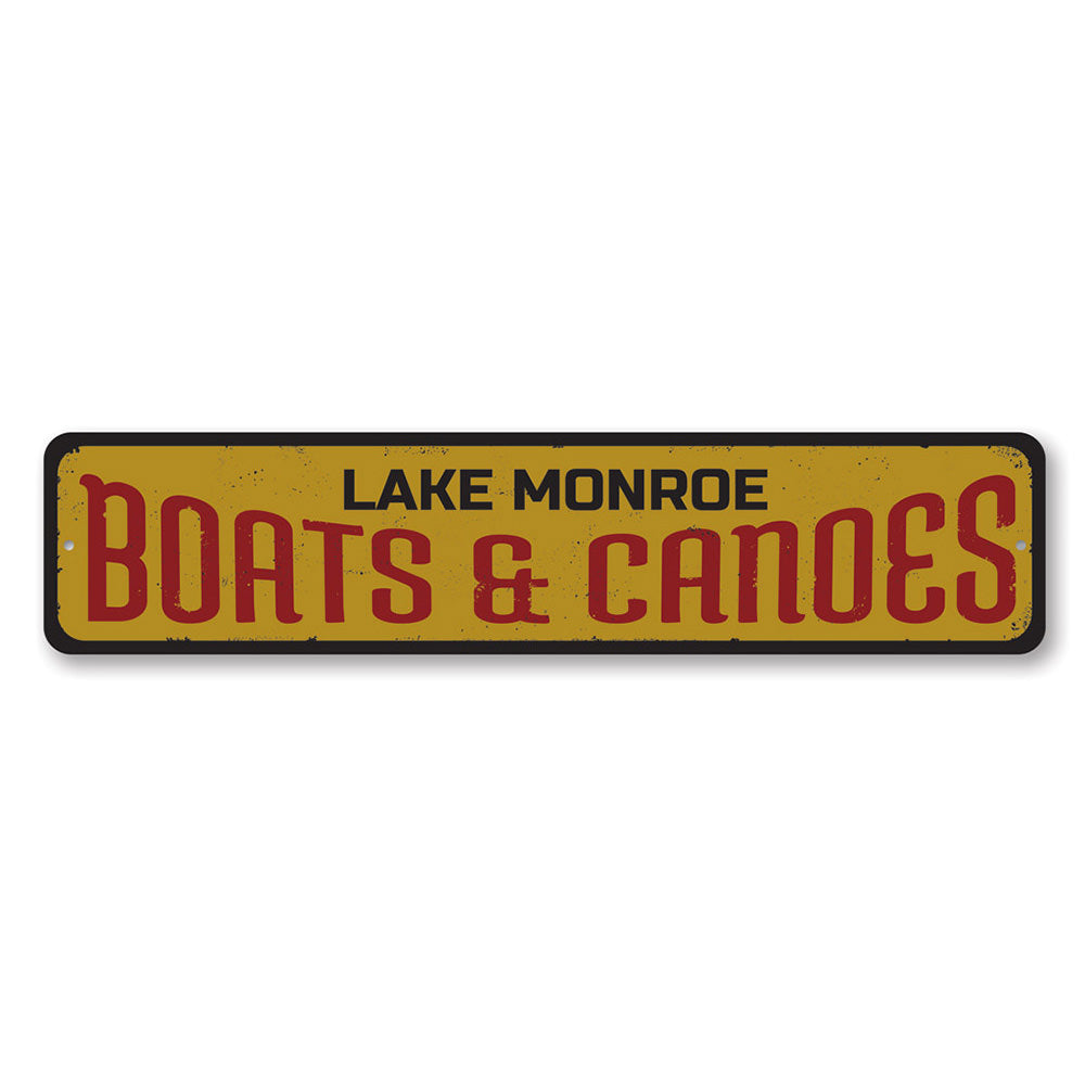 Boats & Canoes Sign Aluminum Sign