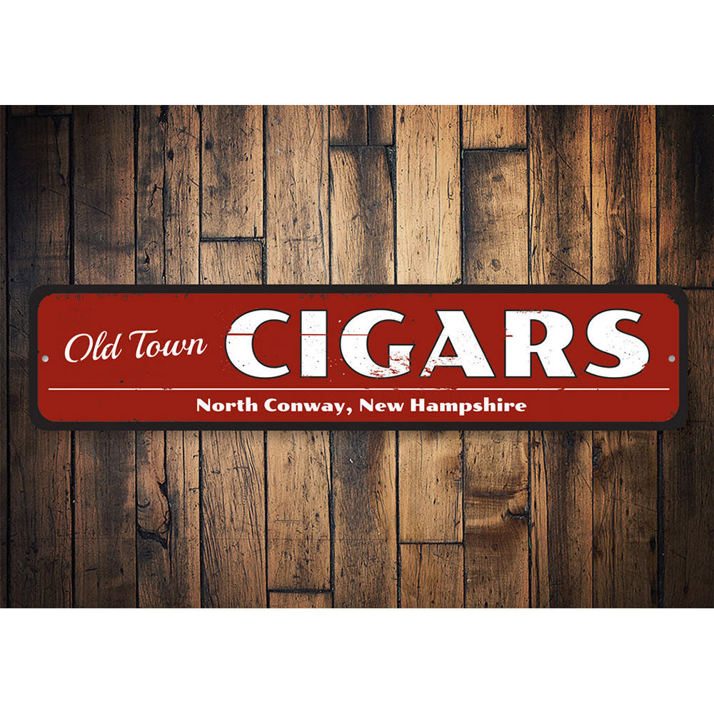 Old Cigar Sign Aluminum Sign